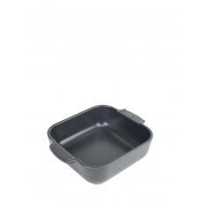 Peugeot Appolia Auflaufform quadratisch 21 cm schiefergrau - Keramik