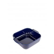 Peugeot Appolia Auflaufform quadratisch 21 cm blau - Keramik