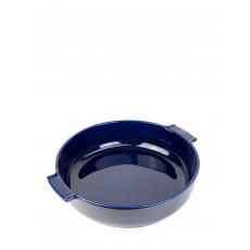 Peugeot Appolia Auflaufform rund 34 cm blau - Keramik