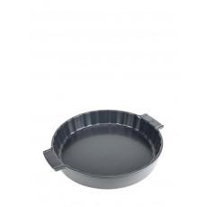 Peugeot Appolia Quicheform rund 28 cm schiefergrau - Keramik