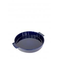 Peugeot Appolia Quicheform rund 28 cm blau - Keramik