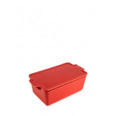 Peugeot Appolia Terrine 20 cm mit Deckel - Keramik rot