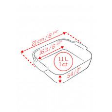 Peugeot Appolia Auflaufform quadratisch 21 cm ecru - Keramik