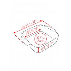 Peugeot Appolia Auflaufform quadratisch 28 cm schiefergrau - Keramik