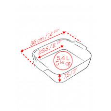 Peugeot Appolia Auflaufform quadratisch 36 cm ecru - Keramik