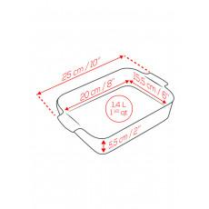 Peugeot Appolia Auflaufform rechteckig 25 cm rot - Keramik