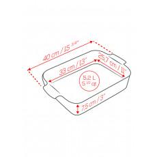 Peugeot Appolia Auflaufform rechteckig 40 cm rot - Keramik