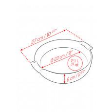 Peugeot Appolia Auflaufform rund 27 cm schiefergrau - Keramik