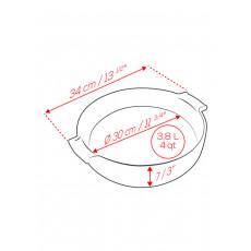 Peugeot Appolia Auflaufform rund 34 cm schiefergrau - Keramik