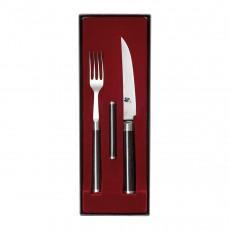 KAI Shun Classic Steakmesser & Gabel Set mit Besteckbaenkchen