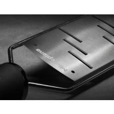 Microplane Gourmet Serie Reibe grosse Raspel mit schwarzem Griff