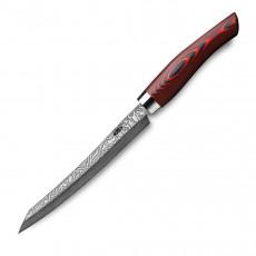 Nesmuk Exklusiv C100 Damast Slicer 16 cm - Griff Micarta rot