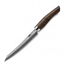 Nesmuk Exklusiv C100 Damast Slicer 16 cm - Griff Walnuss Maserholz