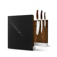 Nesmuk Messerhalter Eiche geräuchert / Glasfront schwarz