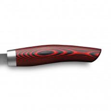 Nesmuk Janus Slicer 26 cm - Niobstahl mit DLC-Beschichtung - Griff Micarta rot