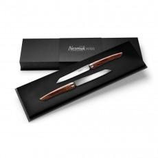 Nesmuk Soul 2-er Set Steakmesser / Tafelmesser 11,5 cm / Spezialstahl Griff - Wüsteneisenholz