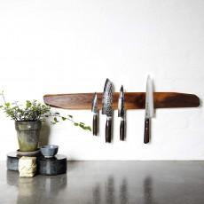 Noyer Messerhalter magnetisch 80 cm - Walnussholz