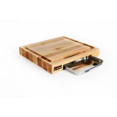 Boos Blocks Prep Masters Schneidebrett 38x35x6 cm aus Ahornholz mit Saftrille