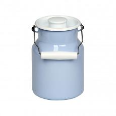 Riess Classic Bunt Pastell Milchkanne 1,5 L blau - Emaille mit Deckel