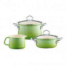 Riess Nouvelle Smaragd 3-teiliges Koch-Starter-Set - Emaille