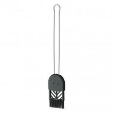 Rösle Backpinsel 4,5 cm - Silikonborsten - Griff Edelstahl