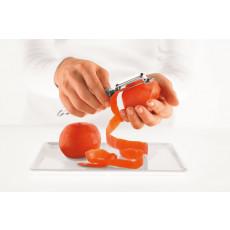 Rösle Tomatenschäler 20 cm gezahnt mit Rundgriff