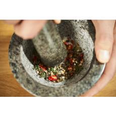 Rösle Granit Mörser mit Stößel und Anti-Rutsch-Boden aus Moosgummi