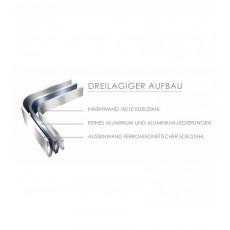 All-Clad d3 Stainless Stielkasserolle 20,3 cm / 2,8 L - Edelstahl-Mehrschichtmaterial