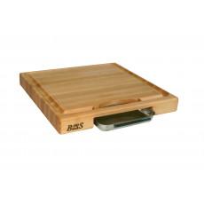 Boos Blocks Prep Masters Schneidebrett 46x46x6 cm aus Ahornholz mit Saftrille