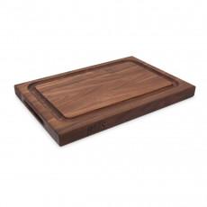 Boos Blocks Black Walnut Schneidebrett 46x31x4 cm aus Walnussholz mit Saftrille
